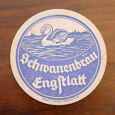 Bierdeckel Schwanenbräu Engstlatt - baden-württemberg vk balingen eugen lange