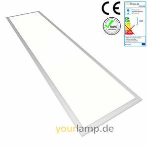 yourlamp led panel einbauleuchte 1200x300 mm alu silber fernbedienung dimmbar ebay. Black Bedroom Furniture Sets. Home Design Ideas