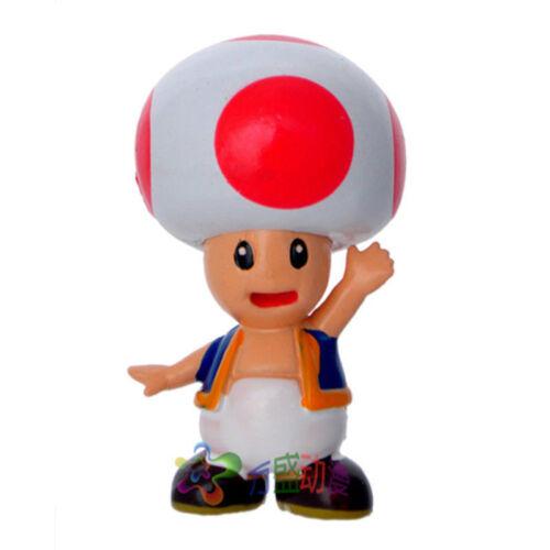 6//1x Super Mario Bros Juego Acción Figura Pastel Toppers Muñeca Chico Toy S95