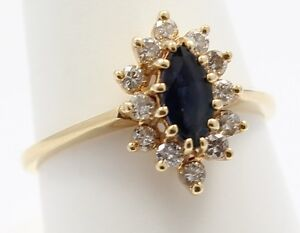 14k-Yellow-Gold-Sapphire-and-Diamond-Ladies-Ring