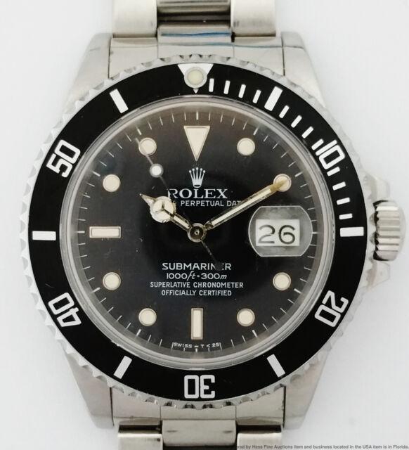 Scarce Rolex Submariner 168000 Triple Zero Transitional Vintage Divers Watch