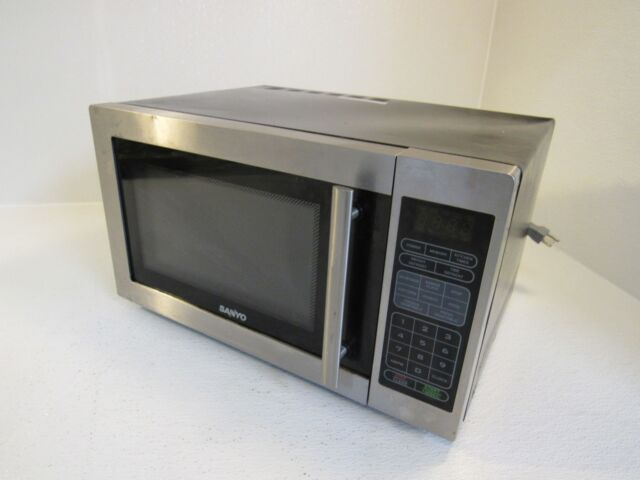 Sanyo Countertop Turntable Microwave Oven Stainless Black 1000w Em S6588s