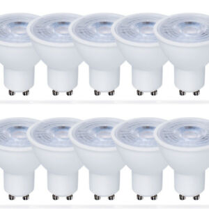 10-x-LED-Leuchtmittel-Reflektor-5W-50W-GU10-Strahler-warmweiss-3000K-flood-38