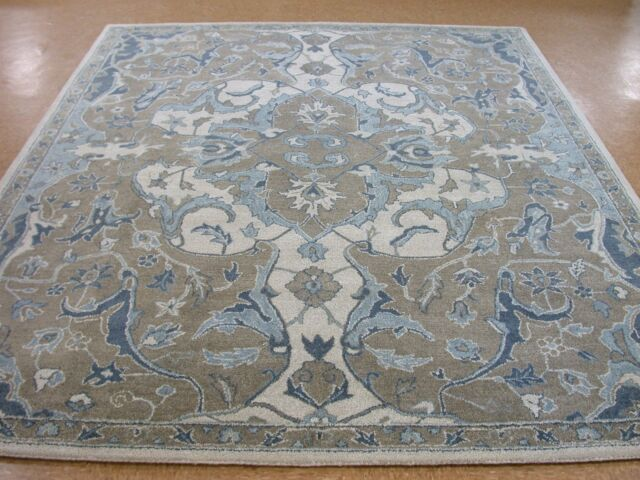 8 X 10 Pottery Barn Nolan Neutral New Hand Tufted Wool Rug