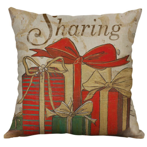 Christmas Deer Home Decor pillow case Cushion Cover Cotton Linen Printing whale