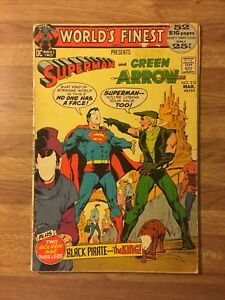 World-039-s-Finest-Comics-210-DC-1972-Superman-and-Green-Arrow-Neal-Adams-Art