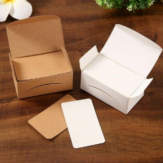 100Pcs Blank Kraft Paper Message Card Memo Wedding Gift