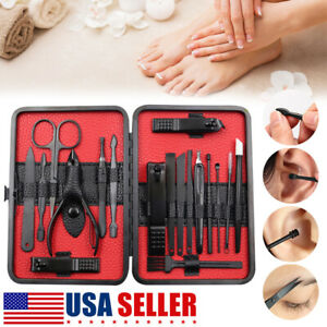 18Pcs-Stainless-Steel-Professional-Manicure-Pedicure-Kit-Nail-Clippers-Set-Tools