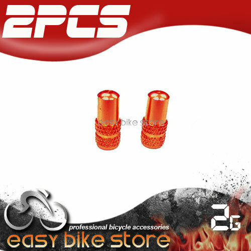 2PCS cycling Aluminum Presta  France Inner Tube Valve Cap Anodized GREEN APPLE