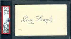 Casey-Stengel-PSA-DNA-Coa-Autograph-Hand-Signed-3x5-Index-Card