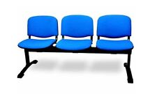 Panca per ufficio 3posti per sala attesa seduta imbottita in tessuto vari color