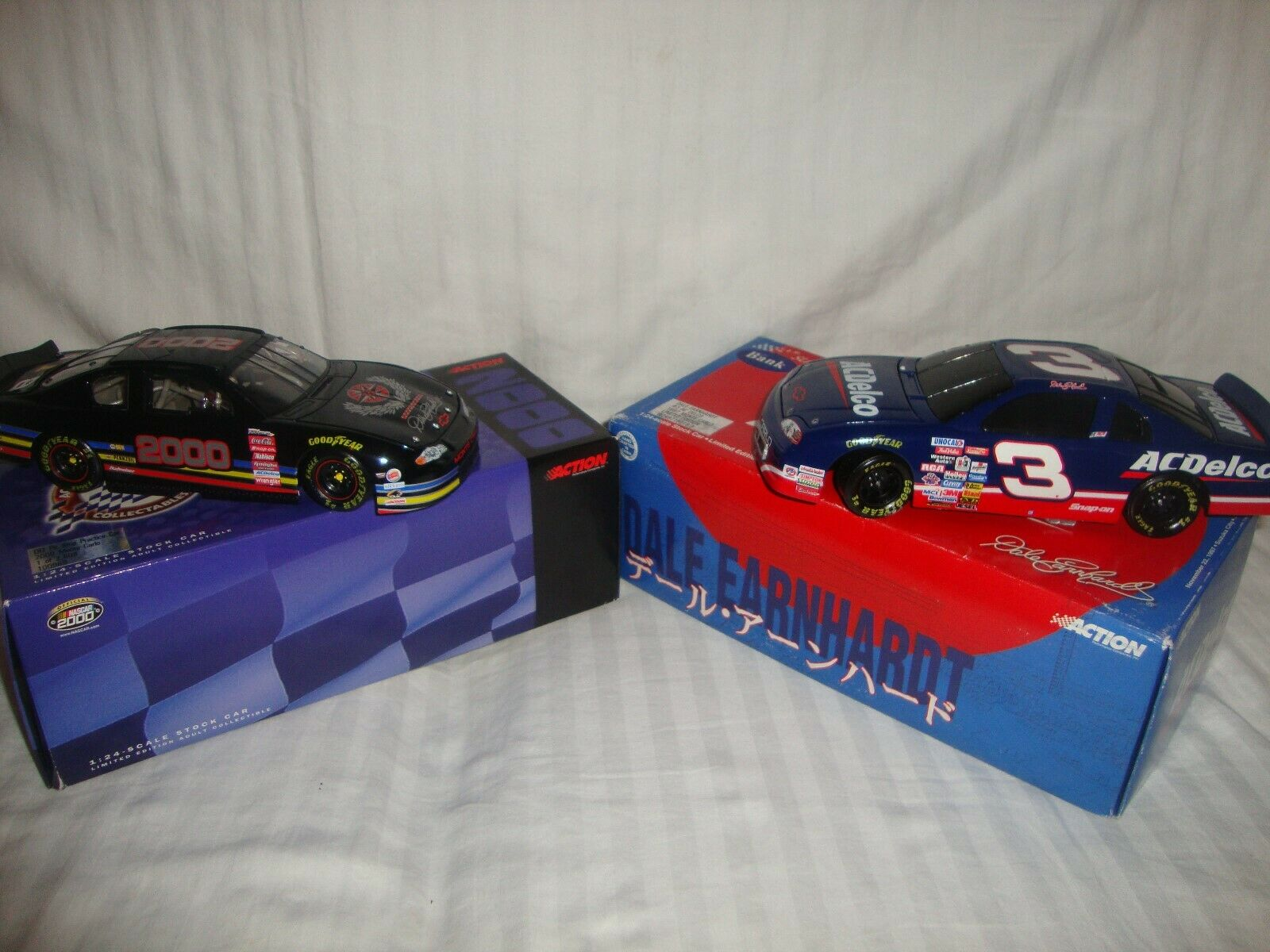 Lot of 2 DALE EARNHART  3 1 24 Scale Car's Suzka Circuit & DEI PIT Stop Practice