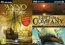anno 1404 gold includes venice & East India Company Collection game & 3 add ons