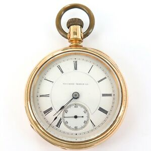 RARE-ONLY-3200-MADE-1881-IILINOIS-MILLER-18S-17J-TRANSITIONAL-POCKET-WATCH