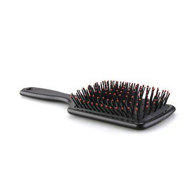 Professional Black Paddle Cushion Hair Massage Brush Hairbrush Comb LW