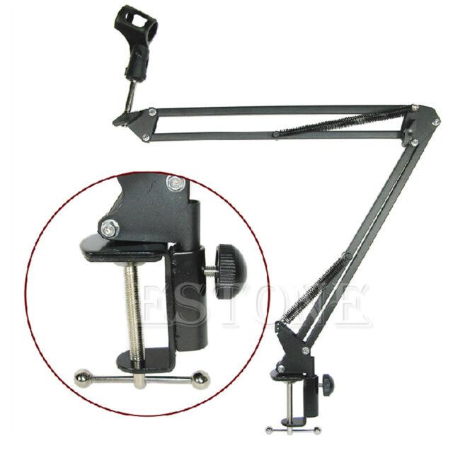 Microphone Stand Mic Suspension Boom Scissor Arm Holder For Studio Broadcast PN