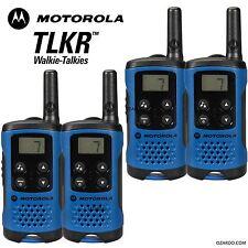 4 X Motorola tlkr T41 2 manera Walkie Talkie Set PMR 446 Radio Kit-Blue Twin Pack