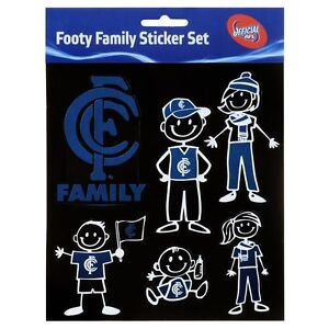 Licensed-AFL-Carlton-Blues-FAMILY-Car-Sticker-Sheet-Christmas-Birthday-Gift
