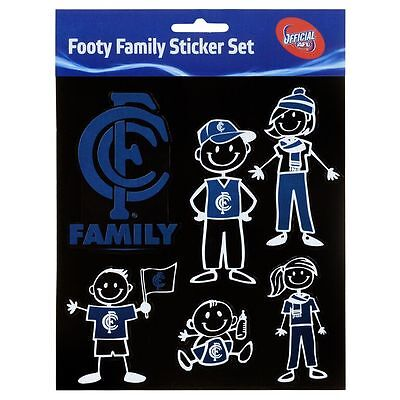 Licensed AFL Carlton Blues FAMILY Car Sticker Sheet Christmas Birthday Gift
