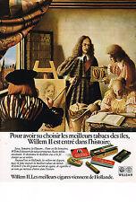 PUBLICITE ADVERTISING 0314   1976    WILLEM 2   cigares