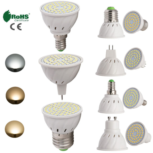 LED E26/E27/GU10/MR16 2835 SMDSpotlight 4W 5W 6W Bulb Lamp Bright 110V 220V 12V