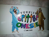 Oversized Critter Onesie Adult Size Hooded Sleepware/costume