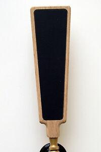 Black-Chalkboard-dry-erase-beer-tap-handle-kit-handmade-natural-oak-2x8-insert