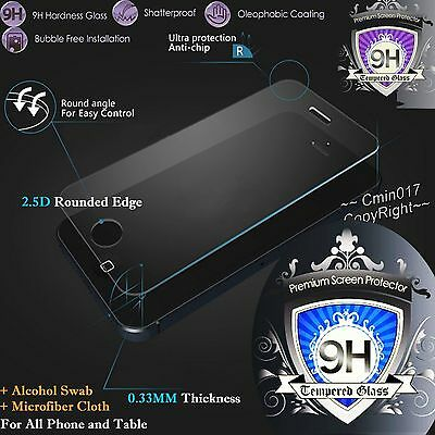 9H Premium Real Tempered Glass Screen Protector Film Cover Case For 201415 Phone