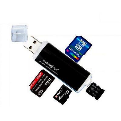 Schwarz Card Reader Kartenleser Micro SD MMC M2 USB 2.0 Stick für Speicherkarte