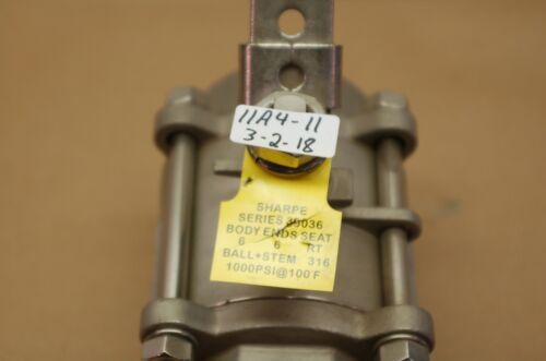 "+NEW SHARPE 2-1//2/"" SERIES 39036 3-PIECE INLINE BALL VALVE 1000WOG CF8M FULL-PORT"