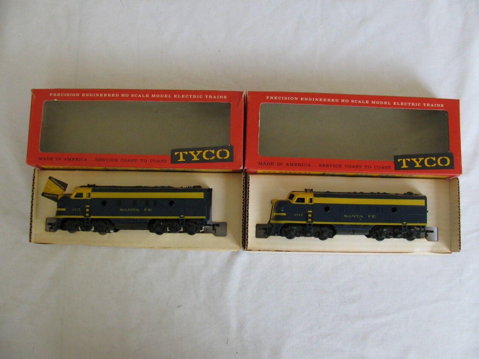 Vintage Tyco Mantua HO Scale Santa Fe F9 AA Unit Unit Unit Diesel Locomotive Set NIB 990e8d