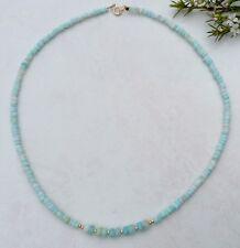 "PERUVIAN OPAL CHOKER/NECKLACE   17.75 "" 14k gold filled beads"