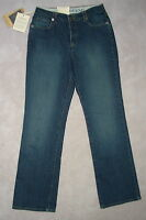 Womens Lands' End Curvy Heavy Denim Blue Jeans Stretch Boot Below 8 6 Leg31
