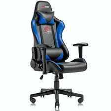 Ergonomic Computer Gaming Chair Racing Style Recliner Swivel Office Chairblue