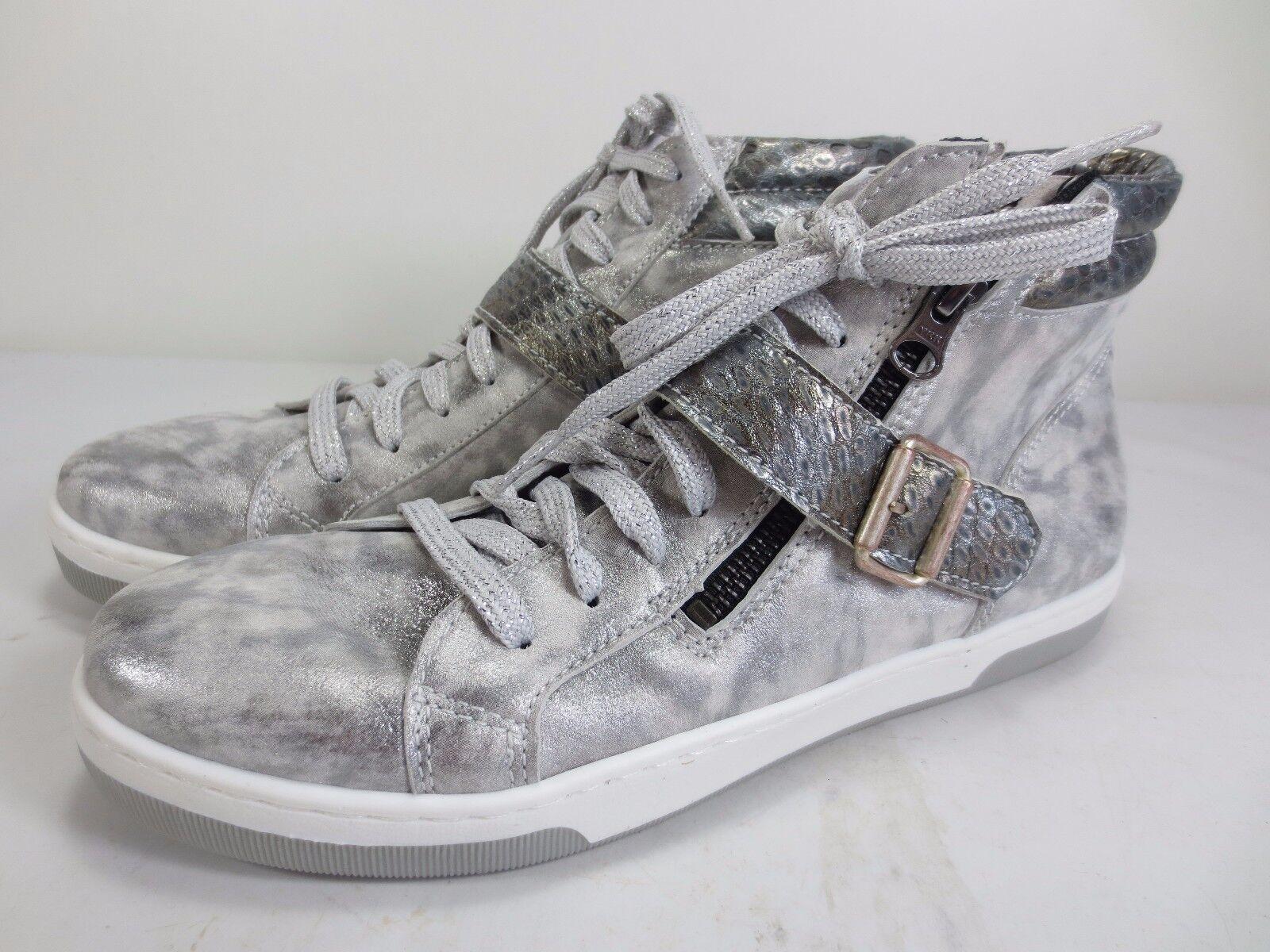 BRAKO Leder Schuhe Turnschuhe antik silber Metallic NEU Gr. 37 für lose Einlagen