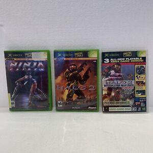 XBOX Video games Lot (Ninja Gaiden, Halo 2, Halo 2)