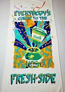 Vintage-SALEM-Tobacco-Cigarettes-Beach-Towel-Fresh-Side-1990-039-s-SAAB-59-x-27-Inch