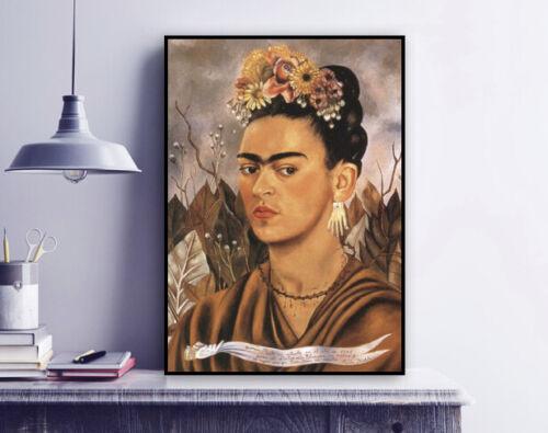 Art Self Portrait Dedicated to Dr Eloesser 1940 Frida Kahlo Painting Print