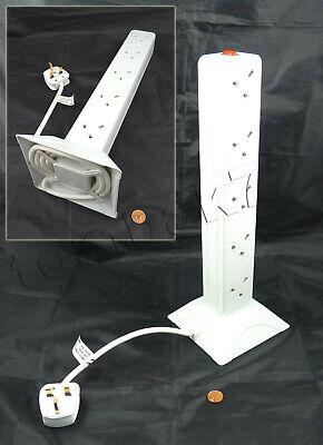 Vertical tour à 10 socket surge protector câble d/'extension uk 13 amp plug 2m plomb