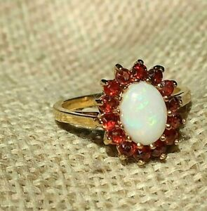 2Ct Round Cut Fire Opal Attractive Women/'s Engagement Ring 14K Rose Gold Finish