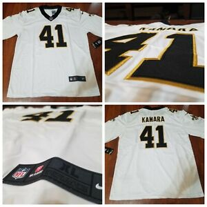 promo code 89d65 c2ad4 Details about Brand New #41 ALVIN KAMARA New Orleans White Stitched  Football Jersey Men's 3XL