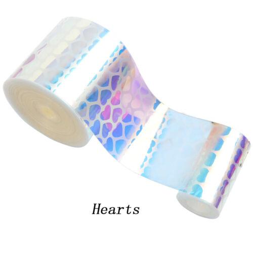 "2yards 3/"" 75mm Jelly Mermaid Heart PatternTransparent PVC Ribbon DIY Material"