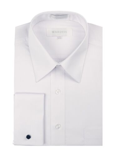 Cufflinks Included Marquis Men/'s Slim Fit French Cuff Dress Shirt