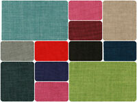 Upholstery Fabric Plain Soft Linen Look Designer Curtain Sofa Cushion Material