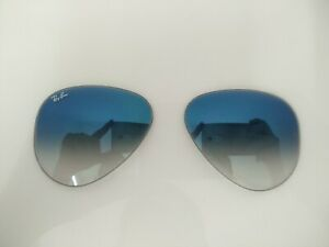 sito affidabile 16007 61ea0 Ray-Ban Aviator LENTI Occhiali da Sole Argento, goccia 3025 blu ...