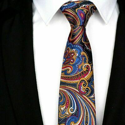 Tie Flower Navy Blue Yellow Pattern Handmade 100/% Silk Wedding Necktie 8cm Width
