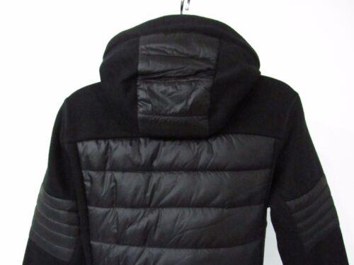 Phenix Sweater-knit//Quilted Black Insulated Lightweight Hood Winter Jacket sz 8