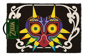 Legend-Of-Zelda-The-Mask-Fussmatte-60-x-40-cm-Material-Kokosfaser-Tuermatte