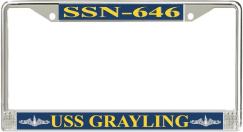 American Made USS Grayling SSN-646 Enlisted License Frame Veteran Approved!