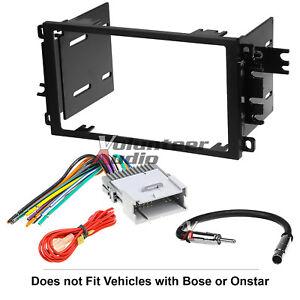 Car Radio Stereo CD Player Dash Install Mounting Trim Panel Kit Harness Antenna